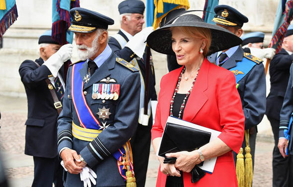 Prince Michael of Kent attended the centenary celebration of the RAF in July (Image GETTY)
