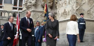 Prince William and Theresa May were in Amiens Cathedral (Image PA )