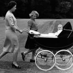 Princess Anne accompanies the Queen and Prince Andrew around the grounds in 1960 (Image GETTY IMAGES)