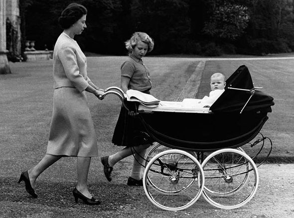 Prince Charles poses with his mother and Princess Anne on his 4th birthday, 1952 (Image GETTY IMAGES)