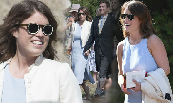 Princess Eugenie arrives with Jack Brooksbank (Image GETTY•PA)