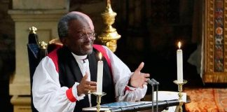 Reverend Michael Curry, who stole the show at Prince Harry and Meghan's wedding Photo (C) GETTY