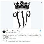 Royal Monogram of His Royal Highness Prince William, Duke of Cambridge