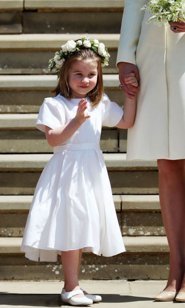 Royal news Princess Charlotte has had a busy year as she was a flower girl (Image GETTY)