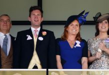 Sarah Ferguson Pictured with Prince Andrew, daughter Princess Eugenie and Jack Brooksbank (Image Getty)