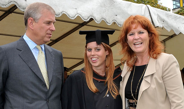 Sarah Ferguson, here with Beatrice, has remained on good terms with Andrew (Image GETTY)