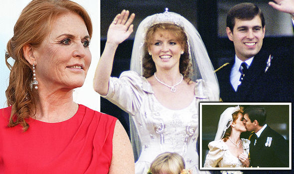 Sarah Ferguson relived the special moments that marked her wedding day with Prince Andrew (Image GETTY)