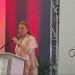 Sarah Ferguson took a trip to Bethlehem to give an inspiring talk Photo (C) GETTY