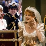 Sarah Ferguson wedding Footage shows Fergie doing something unusual at her wedding in 1986 (Image Getty Images)