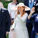 Sarah Ferguson, with daughter Beatrice and ex Andrew waving to the Queen at Ascot (Image GETTY)
