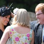 She laughed and smiled as she chatted happily in the sunshine, before the ceremony began Photo (C) PA