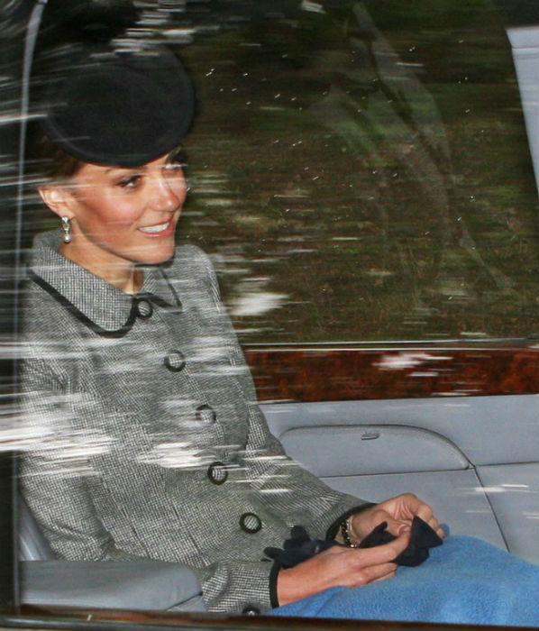 Kate Middleton makes surprise appearance during maternity leave with the Queen in Balmoral Photo (C) GETTY