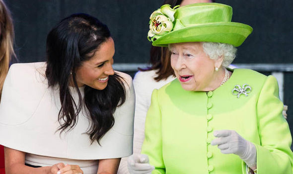 The Duchess of Sussex undertakes her first official engagement with Queen Elizabeth II (Image Samir Hussein WireImage)