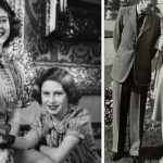The Queen and Princess Margaret with corgi Dookie (left) and with George VI (right) (Image GETTY)