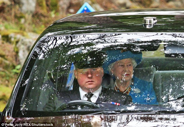 The Queen, pictured today, is currently on her annual summer retreat in Balmoral