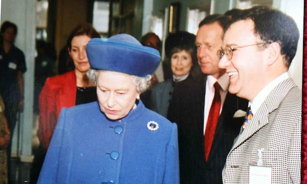 The Queen with Peter Fisher Photo (C) GETTY