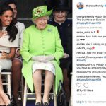 The Queen's official Instagram account, The Royal Family, posted a heartwarming photo of the pair (Image Instagram @theroyalfamily)