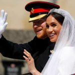 The newly married royal couple on their wedding earlier this year (Image GETTY)