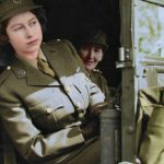 The photo of Queen Elizabeth has been masterfully colourised (Image COLOURBYRJM )
