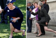 Theresa May and Sarah Ferguson are known to dip low when they curtsy (Image GETTY)