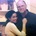 Thomas Markle with his daughter Meghan Markle on the screen during his first TV interview (Image Enterprise News and Pictures)