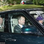 Vice Admiral Sir Timothy Laurence looked smart in a three-piece suit and tie for the outing