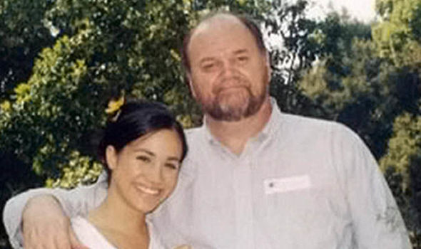 Young Meghan with her father Thomas Markle (Image ENTERPRISE)