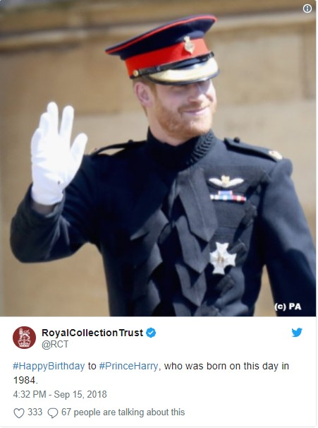 Prince Harry Photo (C) TWITTER