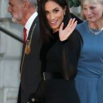 02 The Duchess of Sussex co-ordinated her outfit with a Givenchy dress and matching clutch. Photo (C) PA