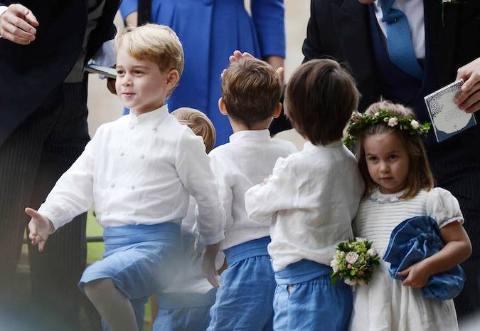 Duchess Kate, Prince William, Prince George and Princess Charlotte Giggle and Joke at Their Close Friend's Wedding Photo (C) Duchess Kate, Prince William, Prince George and Princess Charlotte Giggle and Joke at Their Close Friend's Wedding Photo (C) GETTY IMAGESGETTY IMAGES