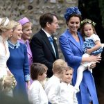 The five-year-old was up to his usual mischief at the wedding Photo (C) GETTY