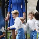 14 Duchess Kate, Prince William, Prince George and Princess Charlotte Giggle and Joke at Their Close Friend's Wedding Photo (C) GETTY IMAGES