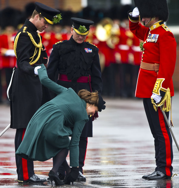 Kate calmly rectified the error and gracefully moved on (Image GETTY)