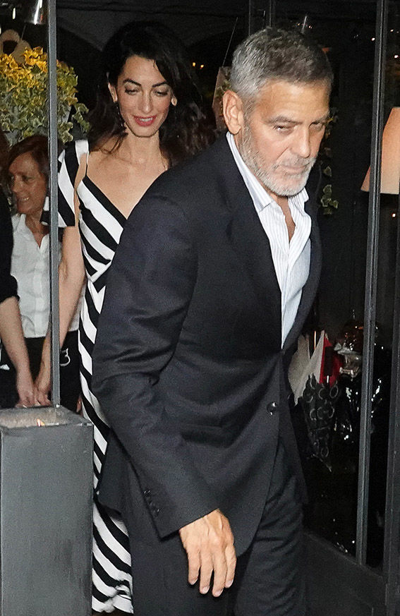 Amal and George Clooney have been enjoying dinner dates in Lake Como (Image WENN)