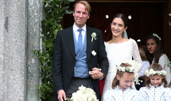 Princess Deniz of Bavaria channelled Meghan Markle's wedding look (Image Getty)