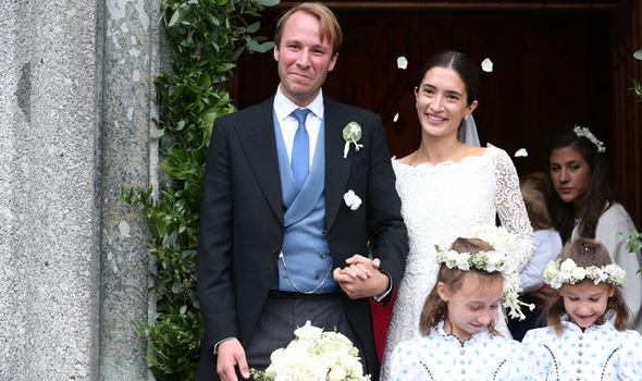 Bridegroom Prince Konstantin of Bavaria and his wife, Bride Princess Deniz of Bavaria (Image Getty)