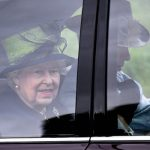 Despite Camilla's absence, the Queen was joined by her son, Charles, and Princess Anne (Image AFP)