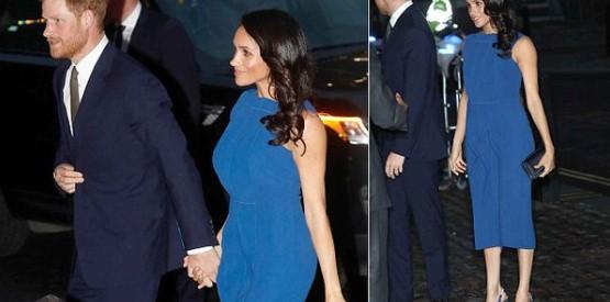 Duchess of Sussex wears blue Jason Wu dress for gala evening Photo (C) TWITTER