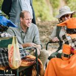 During his trip, William met with members of the local community involved in the Kunene People's Park Initiative
