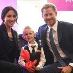 During the evening Meghan and Harry met with four-year-old Mckenzie Brackley (Image Getty Images)