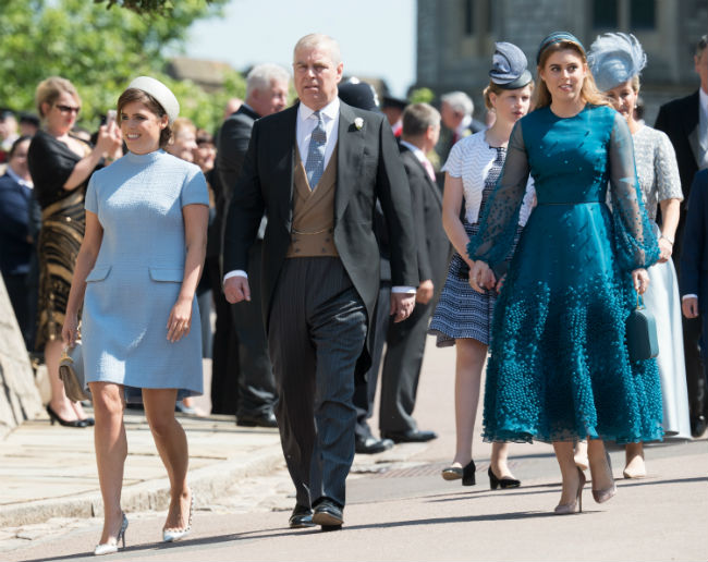 Eugenie at the first royal wedding of the year in May Photo (C) GETTY