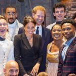 Following the performance, Meghan and Harry met with the Hamilton cast (Image Getty Images)