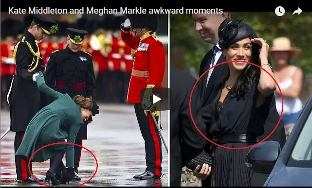 Kate Middleton and Meghan Markle awkward moments