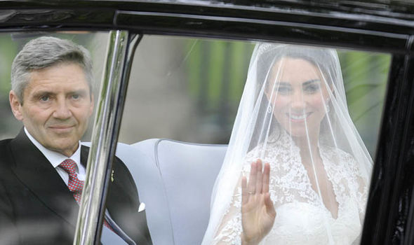 Kate and Michael Middleton arriving at Westminster Abbey on Kate and William's wedding day (Image GETTY)