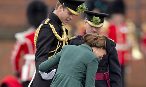 Kate had an awkward moment with her heels (Image WIRE IMAGE)