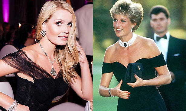 Lady Kitty Spencer wears a black revenge dress just like her aunt Princess Diana and it looks incredible Photo (C) GETTY
