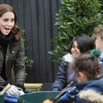 Last year she took part in a gardening engagement with London schoolchildren Photo (C) GETTY