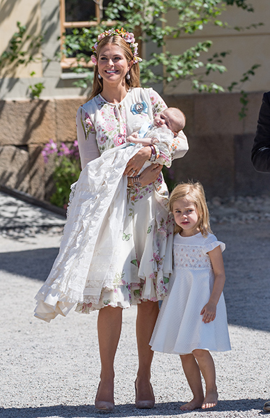 Little Adrienne was baptised in June Photo (C) GETTY