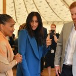 Meghan, Doria and Harry feasted with guests at the Hubb Community kitchen book launch (Image GETTY)