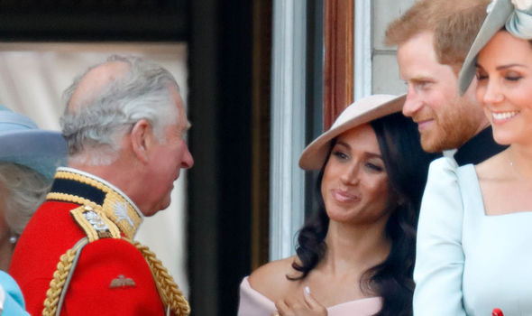 Meghan, Harry and Charles were spotted spending time together over the summer (Image GETTY)